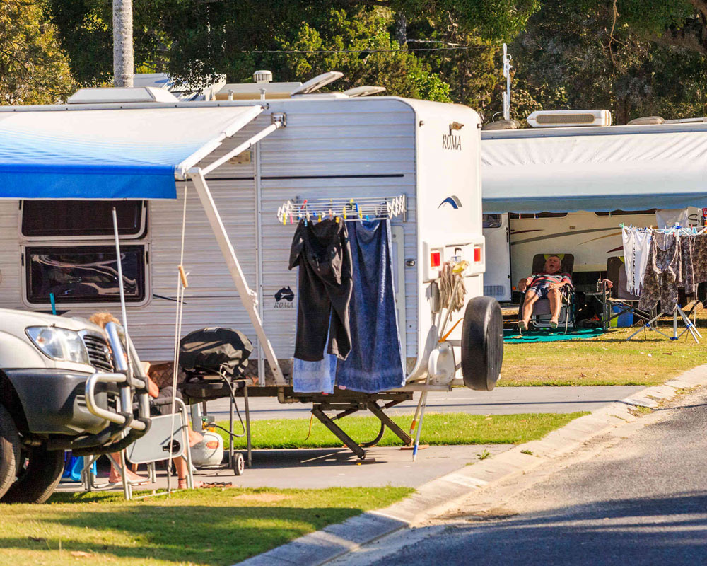 Powered sites at Terrace Reserve caravan park