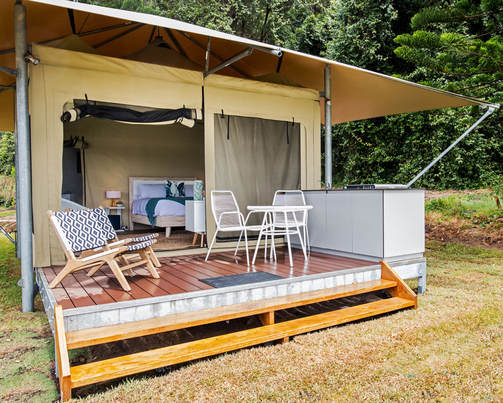 Glamping at Seal Rocks Holiday Park