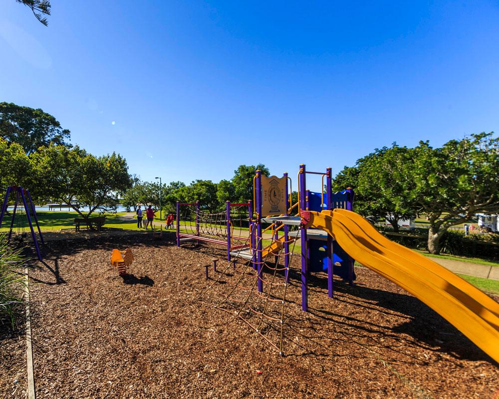 Kids playground at Urunga Heads caravan park