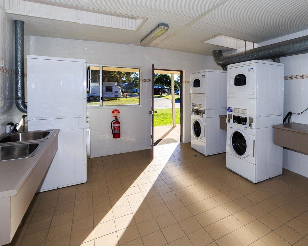 Laundry facilities at Scotts Head caravan park