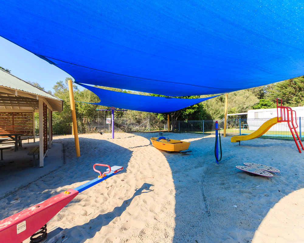 Kids playground at Tuncurry Beach caravan park