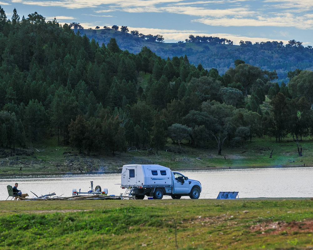 River fishing at Cudgegong Waters caravan park