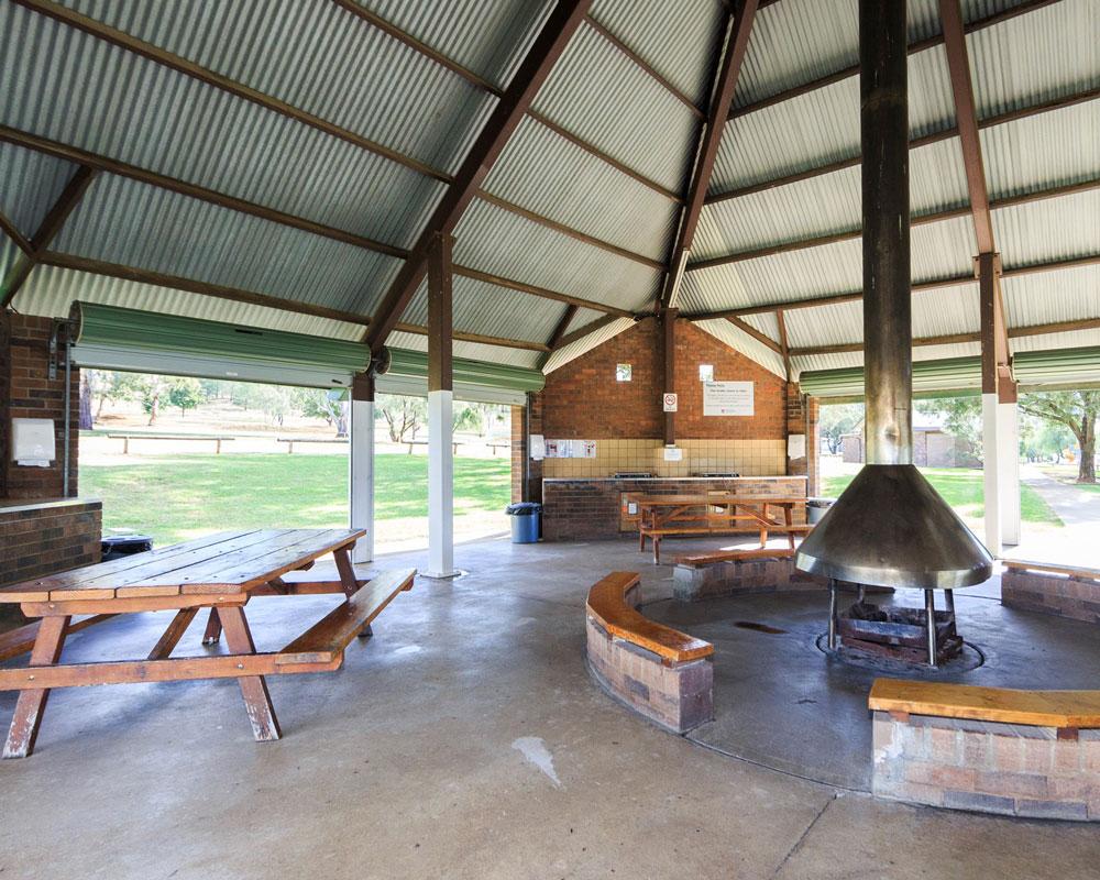 Inside the camp kitchen at Lake Keepit caravan park