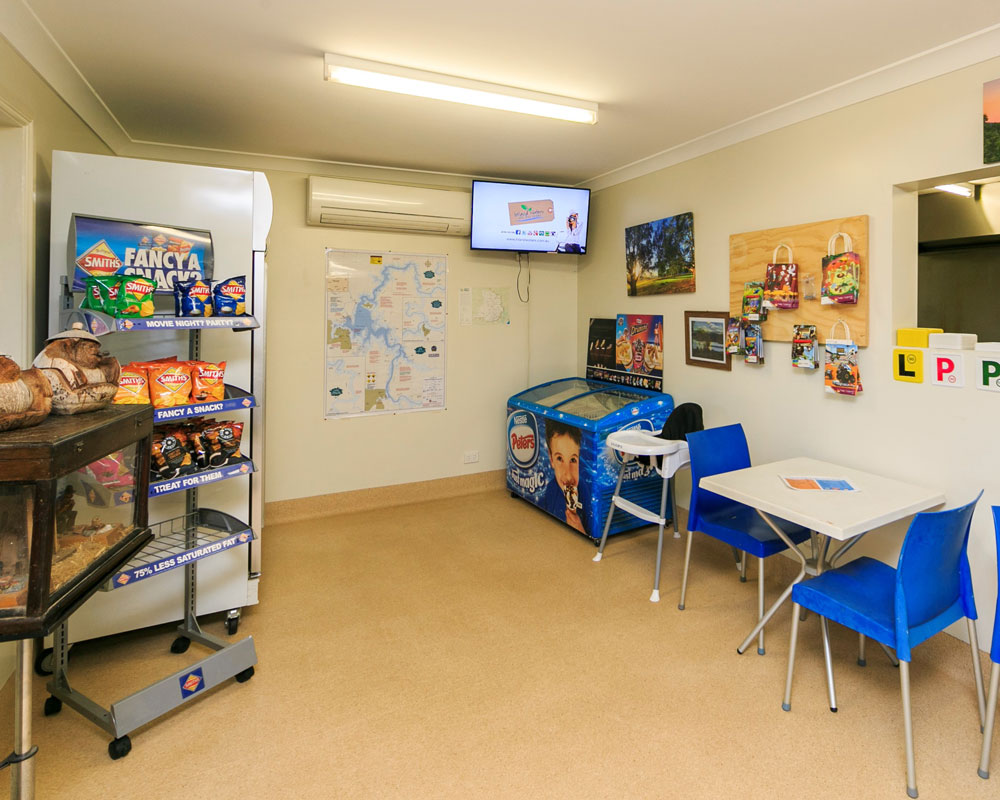 Kiosk shop at Cudgegong Waters caravan park