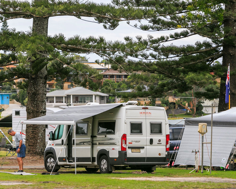 Camping sites at Evans Head - Silver Sands caravan park