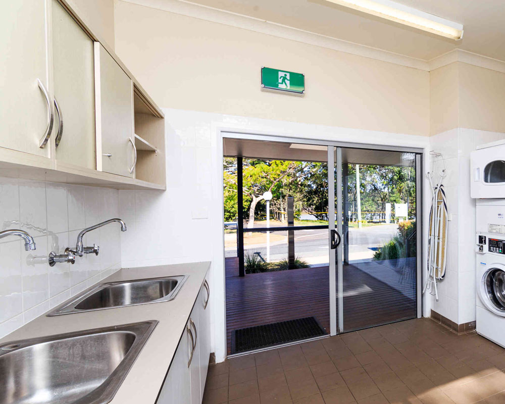 Laundry facilities at Terrace Reserve caravan park