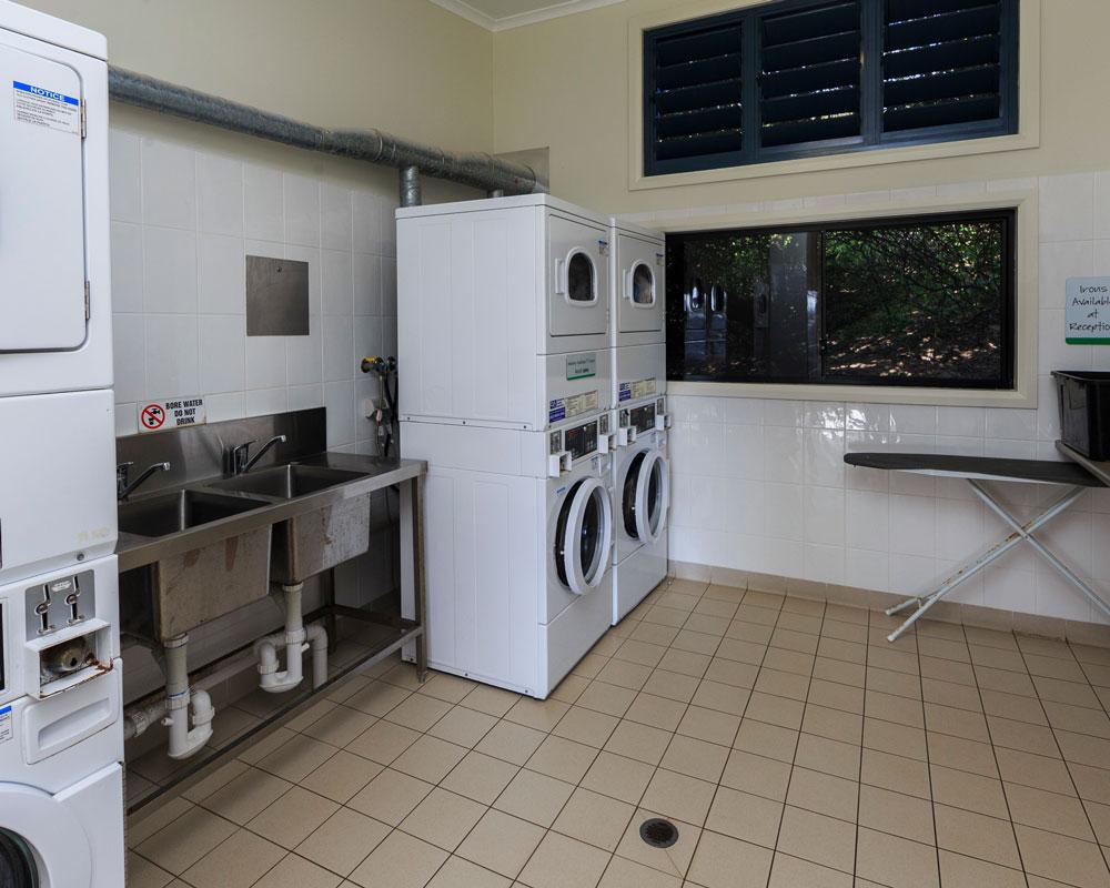 Laundry facilities at Red Rock Holiday Park
