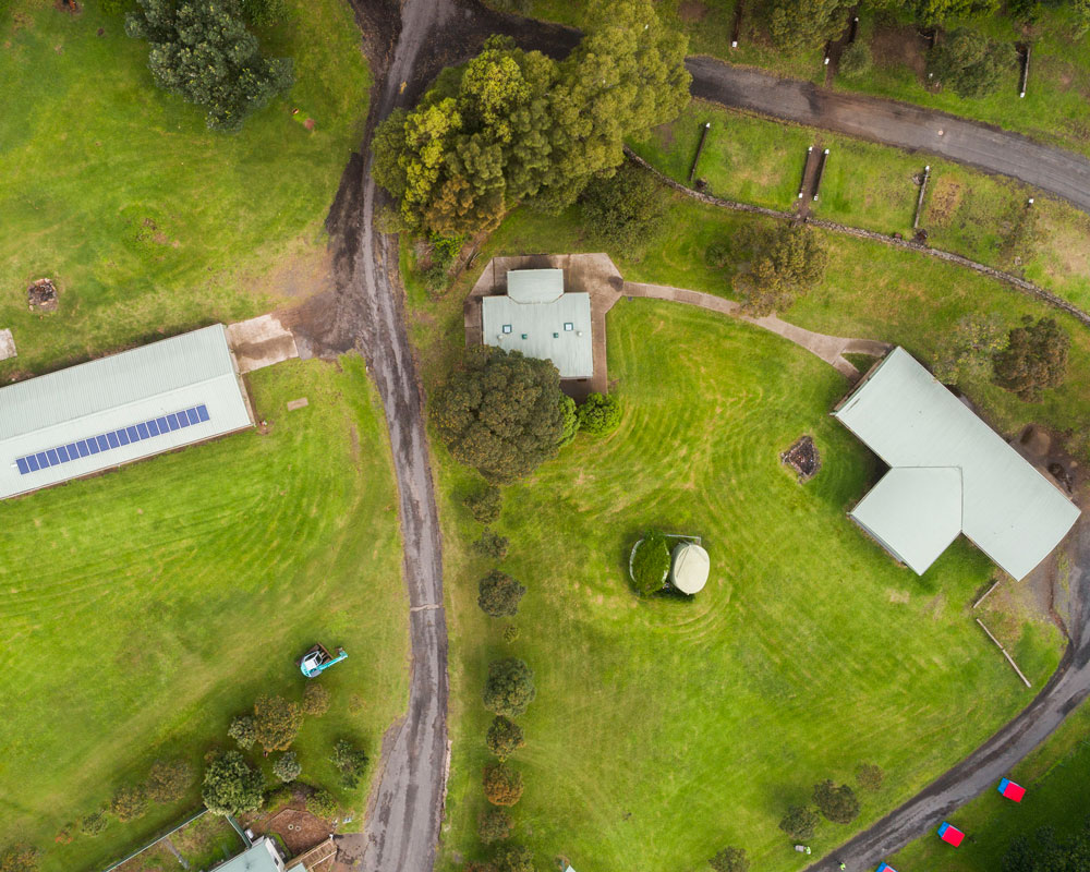 Aerial photo of Killalea camping ground